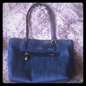 Coach Denim Handbag